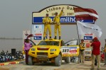Andris Dambis and Didzis Zari with OSCar O3 in finish of Dakar 2007