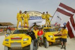 Rga Rally-Raid Team at the finish of Dakar 2007